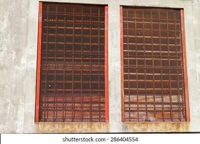 old metal windows