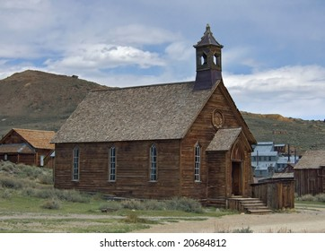 An old Methodist church in the ghost town of Bodie, California