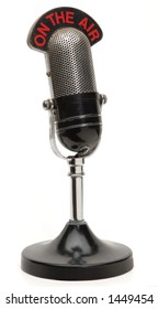 old microphone on white