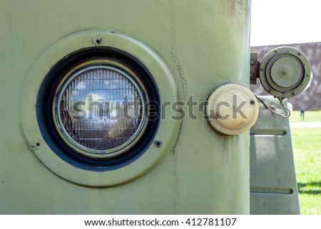 Old Military Car Headlight Reflector Rusty Stock Photo Edit Now