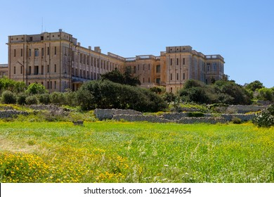 The old military hospital in Mtarfa in Malta