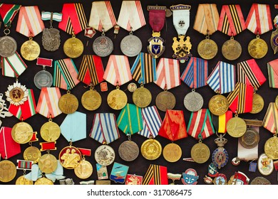 Old military medals collection