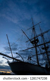 Old military sailing ship in Karlskrona's port