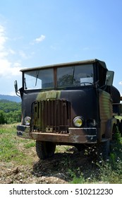 an old military truck in the area