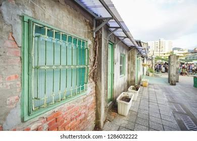 Old military village Si Si Nan Cun Village or Four Four South Village in Taipei City.
