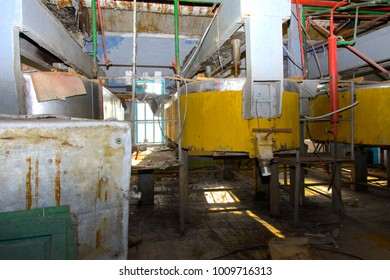 Old milk storage tanks