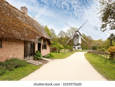 old mill and farmhouse in Bokrijk, Belgium