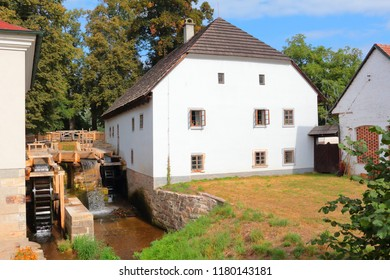 Old mill known as Rudruv mlyn near river Upa in Ratiborice. Mill was founded in 16th century. Famous public tourist attraction in Babiccino udoli. Czech republic, Europe. - Shutterstock ID 1180143181