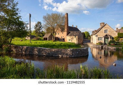 The old mill at Lower Slaughter, Gloucestershire, England.