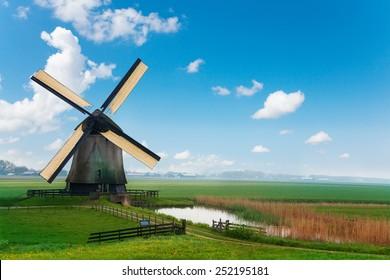 Old mill in Netherlands near Molendjik