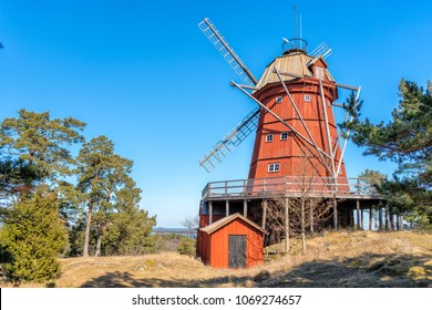 An old mill on the island of Utoe in Stockholm archipelago, Sweden.