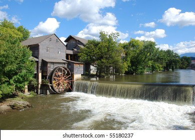 Old Mill on the river at Pigeon Forge Tennessee