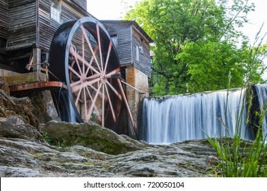 Old Mill on river in Pigeon Forge - Smoky Mountains area ,Tennessee USA.