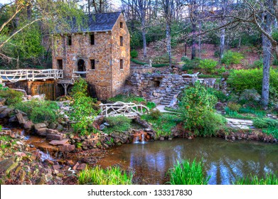 "The Old Mill Replica in N. Little Rock, Arkansas Featured in the 1939 movie ""Gone With the Wind"""