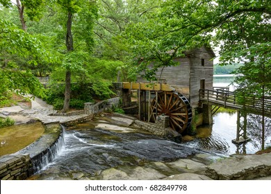 Old Mill - A summer view of Grist Mill in Stone Mountain State Park, Atlanta, Georgia, USA.