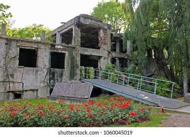 Old millitary barrack destroyed during Worl War II in Westerplatte in Gda?sk, Poland