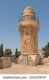 Old Minaret in old Jerusalem in Israel