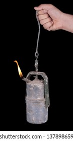 Old mine carbide lamp