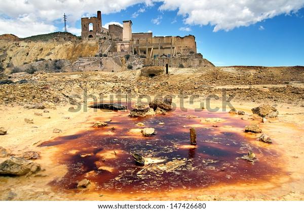 old mine in Mazarron, Murcia, Spain