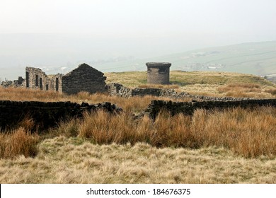 An old mine in Yorkshire. A few miles from Hebden Bridge, on the hills