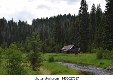 Old Mining Building In Deep Woods Idaho