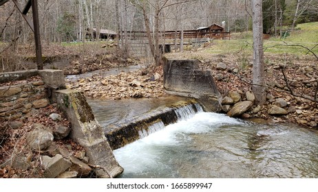 Old Mining Dam that hasbeen Dismantled