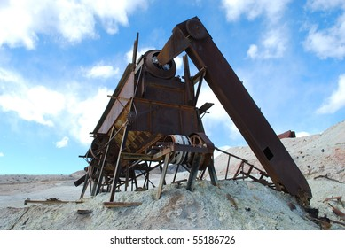 Old mining equipment in Death Valley, California
