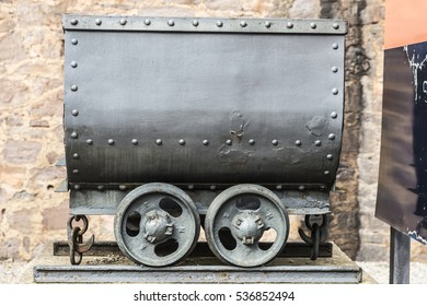 Old mining train of the salt or potash mine in Cardona, Catalonia, Spain