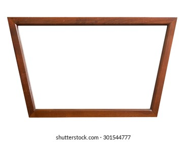 Old mirror frame isolated, clipping path.