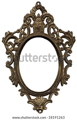 Old Mirror Frame Isolated On White Stock Photo (Edit Now) 18191263 ...