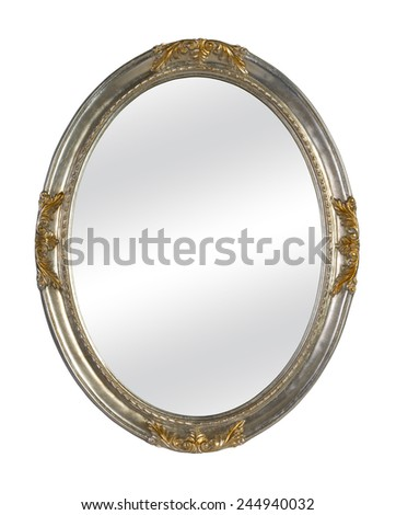 Old Mirror Vintage Frame Isolated On Stock Photo (Edit Now ...
