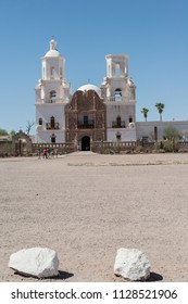 the old Mission San Xavier del Bac is a historic Spanish Catholic mission located on the Tohono O'odham Nation San Xavier Indian Reservation in Tucson, Arizona