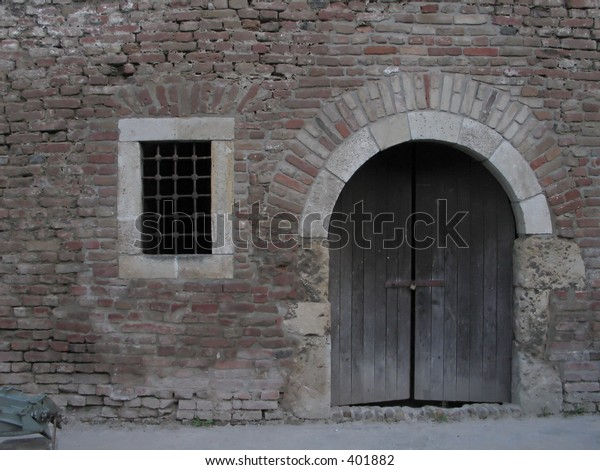 Old mistique locked gate and window