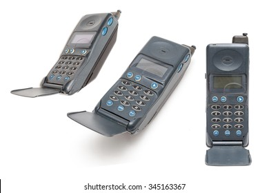 Old Mobile Phone on white background.