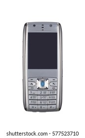 Old mobile phone on a white background.