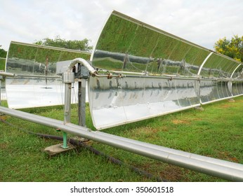 The Old model of Solar Parabolic Trough in green field