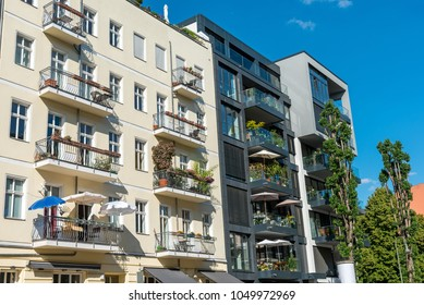 Old and modern houses at the Prenzlauer Berg district in Berlin, Germany