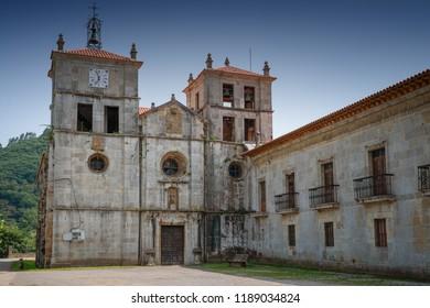 Old monastery of Cornellana, landmark on the Camino de Santiago trail between Grado and Salas, Asturias, Spain