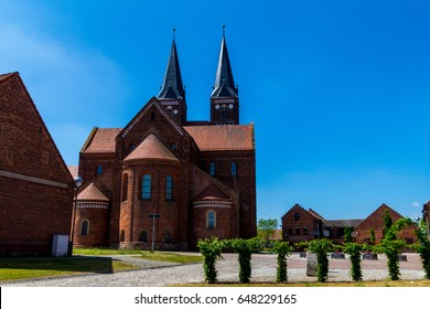 Old monastery in countryside in northern Germany