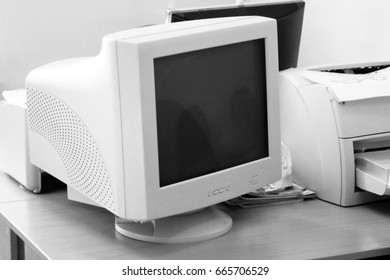 Old monitor, computer equipment