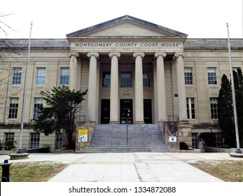 Old Montgomery County Court House in downtown Rockville, Maryland, USA