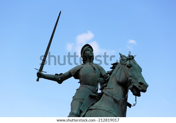 Old Monument of Jeanne d'Arc (Joan of Arc)