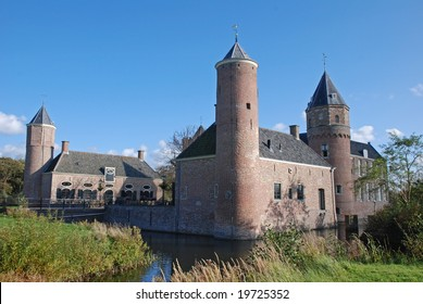 Old monumental castle Westhove in Oostkapelle in the Netherlands, nowadays a hostel for travellers