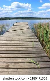 the old mooring at the lake