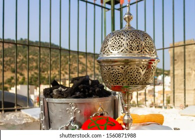 Old moroccan censer in old Moroccan ceremony