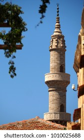 Old mosque tower in Rhodos, Greece