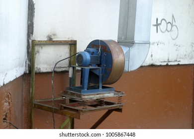 Old motor for ventilation, exhaust
