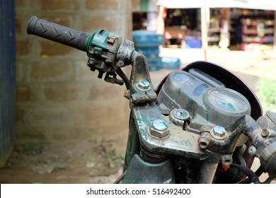 the old motorcycle