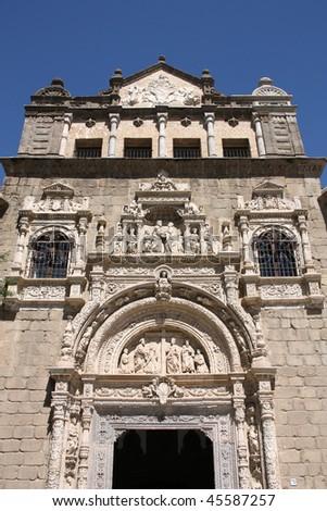 Museo De Santa Cruz.Old Museum Facade Toledo Spain Museo Stock Photo Edit Now 45587257