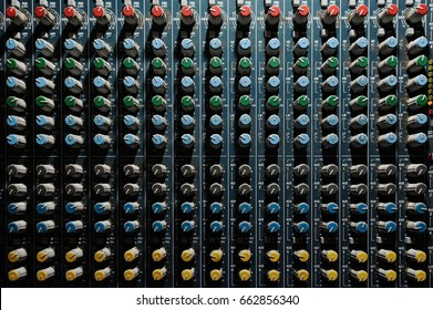 Old music mixer dirty and working